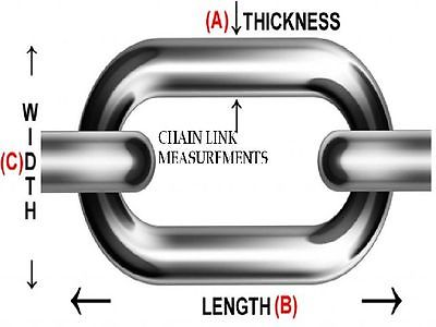 7 Sizes Steel Chain Industrial Welded Links Hanging